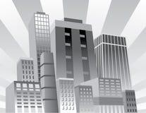 Ciudad confidente stock de ilustración