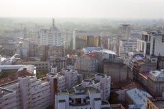 Ciudad contaminada Foto de archivo libre de regalías