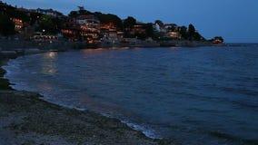 Ciudad costera almacen de metraje de vídeo