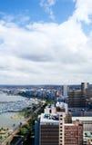 Ciudad costera Imagen de archivo libre de regalías