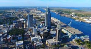 Ciudad costera foto de archivo