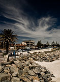 Ciudad costera Imagenes de archivo