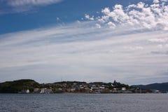 Ciudad costera Fotografía de archivo