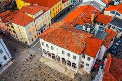 Ciudad costera Koper en Eslovenia fotografía de archivo libre de regalías