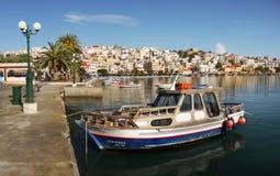 Ciudad Creta Grecia del puerto de Sitia Fotos de archivo