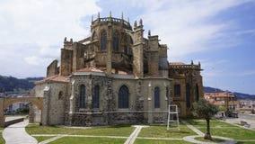 Ciudad de卡斯特罗-乌尔迪亚莱斯,西班牙 免版税图库摄影