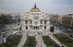 CIUDAD DE墨西哥-墨西哥:11月,2016帕拉西奥de贝拉斯阿特斯是这个美妙的城市象  库存图片