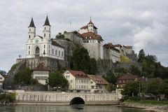 Ciudad de Aarburg en Suiza Foto de archivo libre de regalías