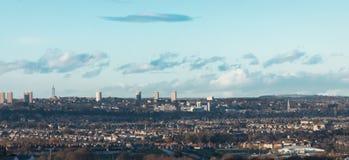 Ciudad de Aberdeen - opinión BRITÁNICA de la distancia Foto de archivo libre de regalías