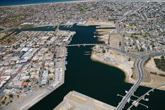 Ciudad de Adelaide del aeropuerto Fotos de archivo