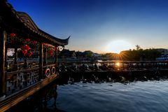 Ciudad de Aicent de Jiangsu China, jinxi fotografía de archivo libre de regalías