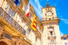 Ciudad de Aix-en-Provence en Francia fotos de archivo libres de regalías