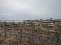 Ciudad de Aktau en el mar Imagen de archivo