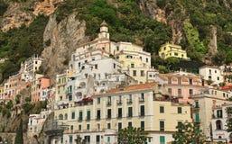 Ciudad de Amalfi Foto de archivo libre de regalías