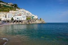 Ciudad de Amalfi Imágenes de archivo libres de regalías