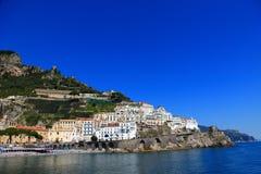 Ciudad de Amalfi Fotografía de archivo libre de regalías