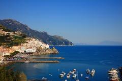 Ciudad de Amalfi Imagen de archivo