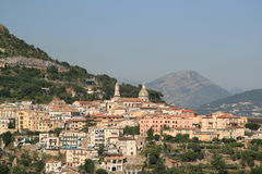 Ciudad de Amalfi en Italia Fotografía de archivo