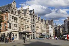 Ciudad de Amberes, Bélgica, ciudad vieja histórica Fotografía de archivo