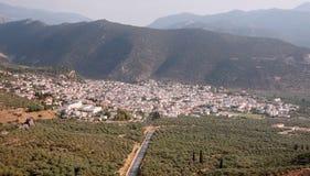 Ciudad de Amfissa imagen de archivo