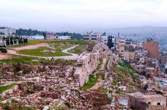 Ciudad de Amman Imagen de archivo libre de regalías