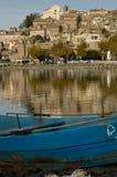 Ciudad de Anguillara en Italia Imagen de archivo