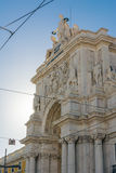 Ciudad de Arco DA Rua Augusta Architecture Monument Historic Landmark Imágenes de archivo libres de regalías