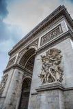 Ciudad de Arco del Triunfo París Fotografía de archivo libre de regalías