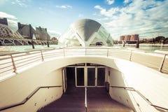 Ciudad de artes y de ciencias foto de archivo libre de regalías