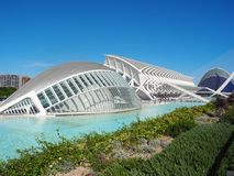 Ciudad de artes y de ciencias en Valencia fotos de archivo libres de regalías