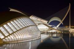 Ciudad de artes y de ciencias de Valencia Imágenes de archivo libres de regalías