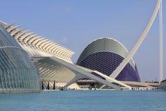 Ciudad de artes y de ciencias en Valencia Imágenes de archivo libres de regalías