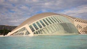Ciudad de artes y de ciencias en Valencia almacen de metraje de vídeo