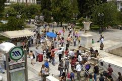 Ciudad de Athenes Foto de archivo libre de regalías