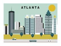 Ciudad de Atlanta en Georgia los E.E.U.U. libre illustration