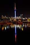 Ciudad de Auckland de Night Imagenes de archivo