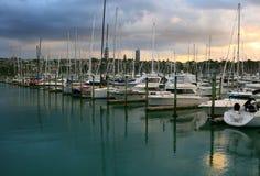 Ciudad de Auckland en Nueva Zelanda Imagenes de archivo