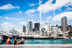 Ciudad de Auckland, Nueva Zelandia Imagen de archivo libre de regalías