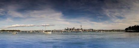 Ciudad de Auckland panorámica Fotos de archivo libres de regalías