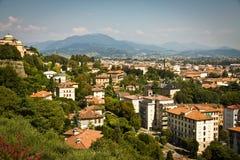 Ciudad de Bérgamo, Italia Foto de archivo libre de regalías