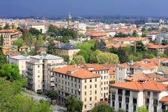 Ciudad de Bérgamo, Italia Foto de archivo