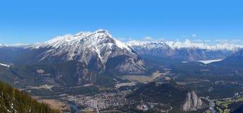 Ciudad de Banff Imagen de archivo libre de regalías