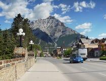 Ciudad de Banff Imágenes de archivo libres de regalías