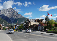 Ciudad de Banff Imagenes de archivo