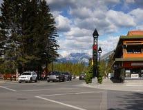 Ciudad de Banff, Canadá Foto de archivo