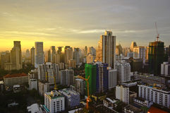 Ciudad de Bangkok el mañana Fotos de archivo