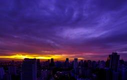 Ciudad de Bangkok el mañana Imagenes de archivo