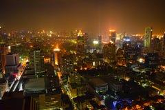 Ciudad de Bangkok por noche Fotografía de archivo libre de regalías