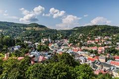 Ciudad de Banska Stiavnica Eslovaquia Imagen de archivo