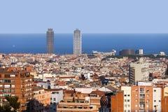 Ciudad de Barcelona Foto de archivo